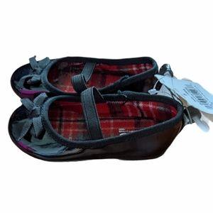 NWT black shiny Mary Jane style slip on shoes